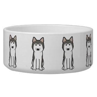 Siberian Husky Dog Cartoon Pet Water Bowl