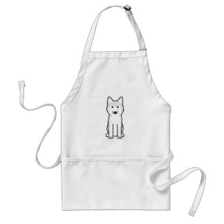 Siberian Husky Dog Cartoon Standard Apron