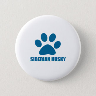 SIBERIAN HUSKY DOG DESIGNS 2 INCH ROUND BUTTON
