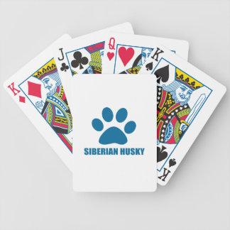 SIBERIAN HUSKY DOG DESIGNS BICYCLE PLAYING CARDS