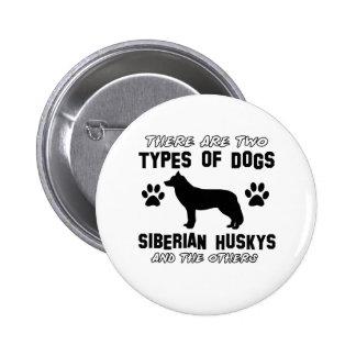Siberian husky dog Designs 2 Inch Round Button