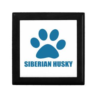 SIBERIAN HUSKY DOG DESIGNS GIFT BOX