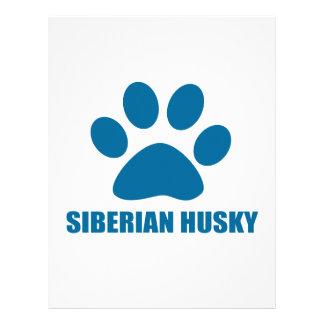 SIBERIAN HUSKY DOG DESIGNS LETTERHEAD