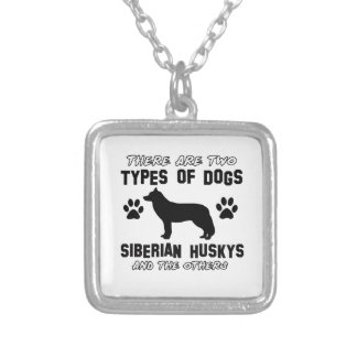 Siberian husky dog Designs Square Pendant Necklace