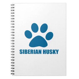 SIBERIAN HUSKY DOG DESIGNS NOTEBOOK