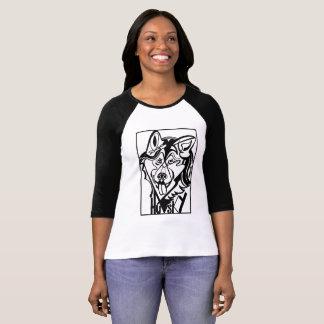 Siberian Husky Dog Doodle T-Shirt
