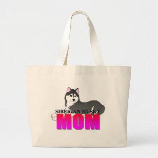 Siberian Husky Dog Mom Jumbo Tote Bag