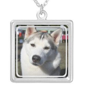 Siberian Husky Dog Photo Necklace