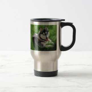 Siberian Husky Dog Stainless Travel Mug