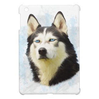 Siberian Husky Dog Water Color Art Painting Case For The iPad Mini