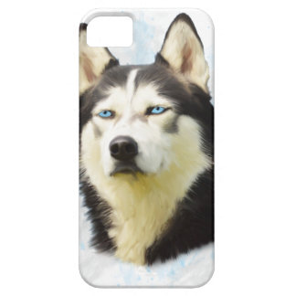 Siberian Husky Dog Water Color Art Painting Case For The iPhone 5