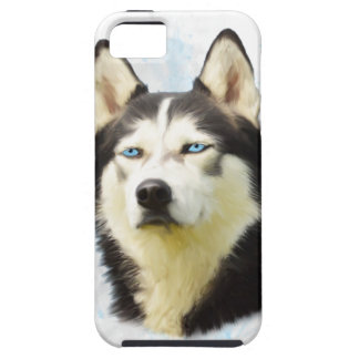 Siberian Husky Dog Water Color Art Painting iPhone 5 Cases