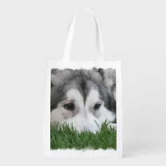 Siberian Husky Dog Market Totes