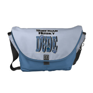 Siberian Husky DUDE Messenger Bag