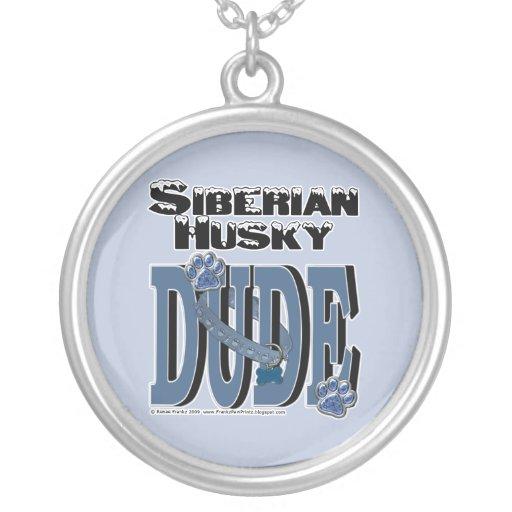 Siberian Husky DUDE Personalized Necklace