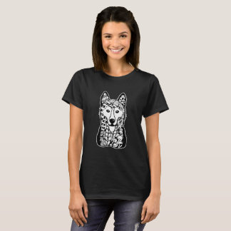 Siberian Husky Face Graphic Art T-Shirt