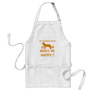 Siberian Husky gift items Standard Apron