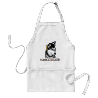 Siberian Husky Grad 09 Standard Apron