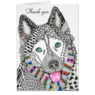 Siberian Husky Greeting Card (You can Customize)