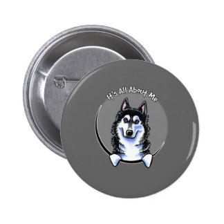 Siberian Husky IAAM Pinback Button