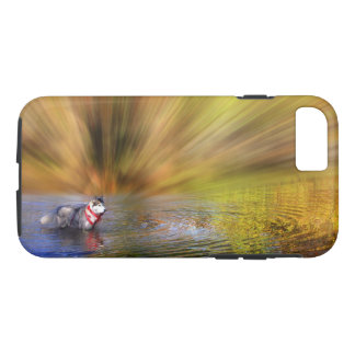 Siberian Husky in water iPhone 8/7 Case