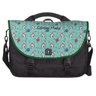 Siberian Husky Laptop Commuter Bag