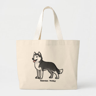 Siberian Husky Large Tote Bag