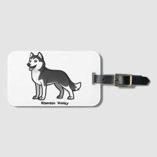 Siberian Husky Luggage Tag