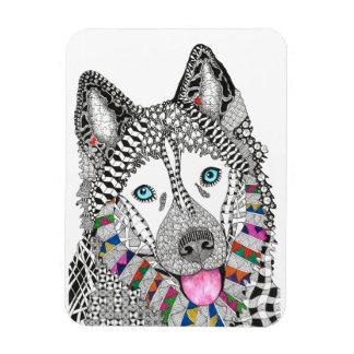 """Siberian Husky Magnet 3""""x4"""" (You can Customize)"""