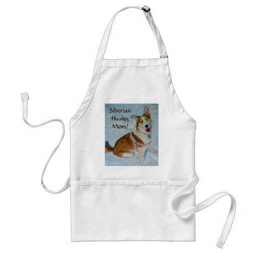 Siberian Husky Mom Apron
