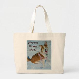 Siberian Husky Mom Tote Bags