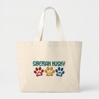 SIBERIAN HUSKY  Mom Paw Print 1 Jumbo Tote Bag