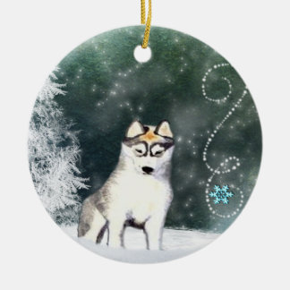 Siberian Husky Ornament Double Sided