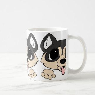 siberian husky peeking agouti coffee mug