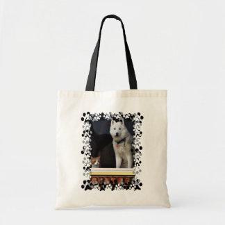Siberian Husky Photo Canvas Bag