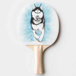 Siberian Husky Ping Pong Paddle