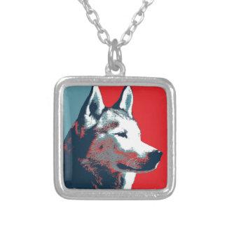 Siberian Husky Political Parody Poster Necklaces