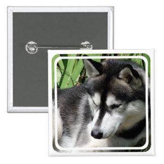 Siberian Husky Profile Pin