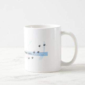 Siberian Husky Puppie with lights Coffee Mug
