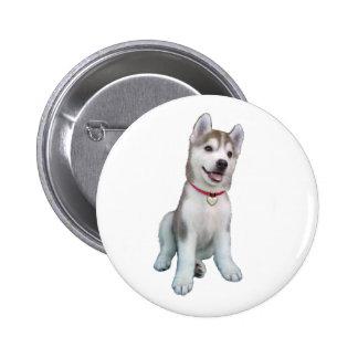 Siberian Husky Puppy 2 Inch Round Button