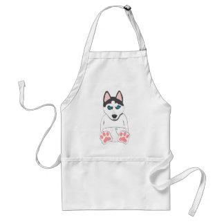 Siberian Husky Puppy Aprons
