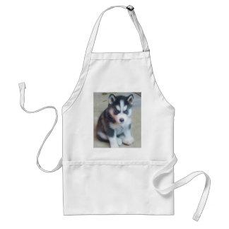 Siberian Husky puppy art Standard Apron