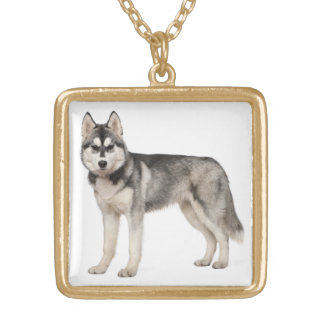 Siberian Husky Puppy Dog Necklace Pendant