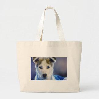 Siberian Husky Puppy Jumbo Tote Bag