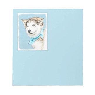Siberian Husky Puppy Notepad