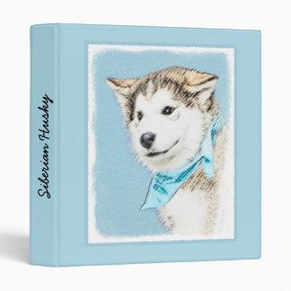 Siberian Husky Puppy Painting - Original Dog Art Binder