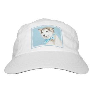 Siberian Husky Puppy Painting - Original Dog Art Hat