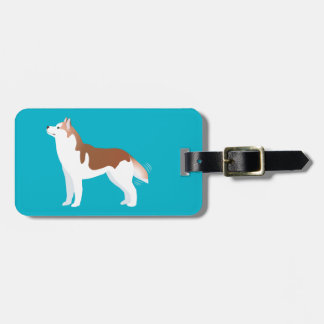 Siberian Husky - Red - Breed Template Design Luggage Tag