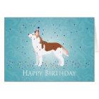 Siberian Husky - Red - Happy Birthday Design Card