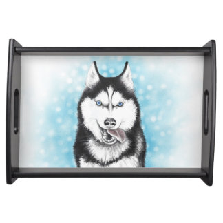 Siberian Husky Serving Tray